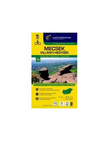 Mecsek - Villányi-hegység turistatérkép