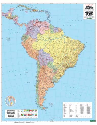 Del Amerika Politikai Terkep Ives 97x128