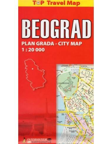Beograd - Belgrád  térkép