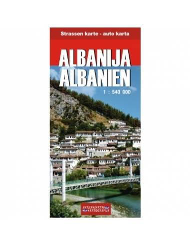 Albanien - Albánia térkép