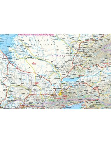 Rkh Kasachstan Kazahsztan Terkep