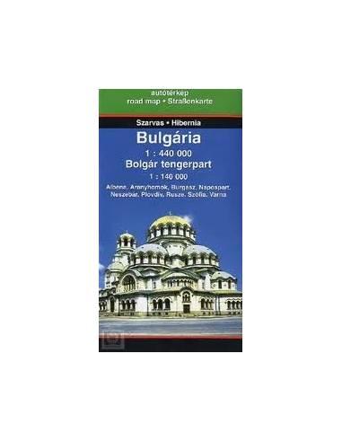 Bulgária Bolgár Tengerpart térkép
