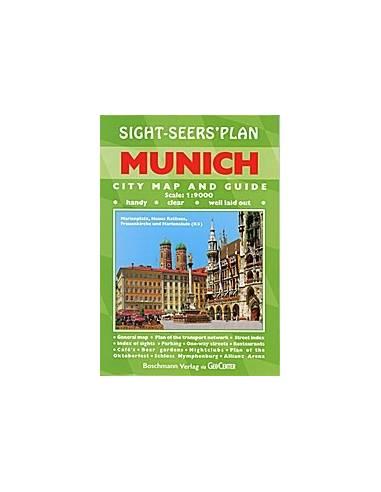 Munchen Munich Belvaros Terkep