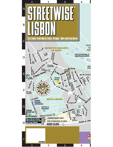 Streetwise Lisbon Map - Lisszabon térkép