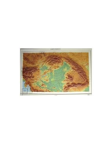 Kárpát-medence dombortérképe 120*80 cm