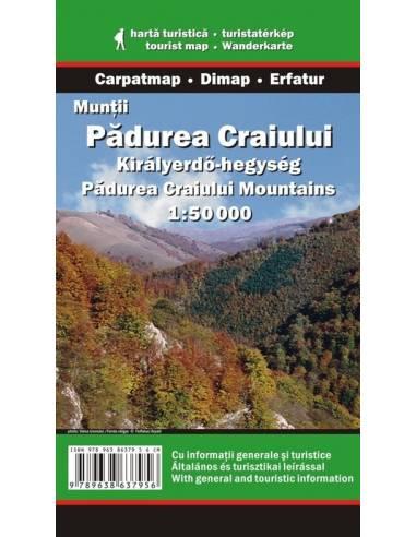 Királyerdő-hegység térkép - Munţii...