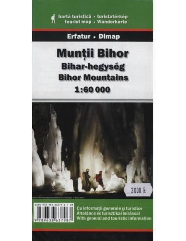 Bihar-hegység térkép -Munţii Bihor