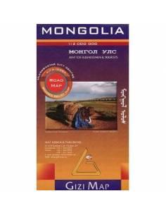 Mongólia autós térkép