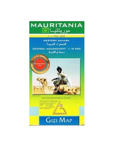 Mauritánia / Nyugat-Szahara térkép