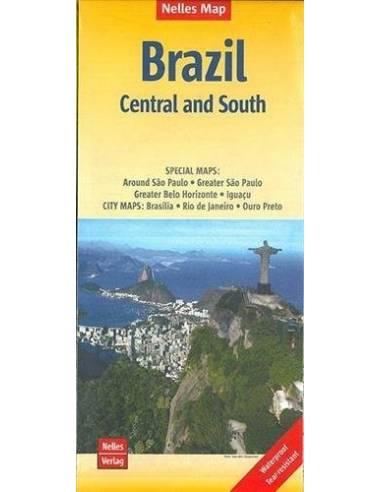 Brazil Central and South térkép -...