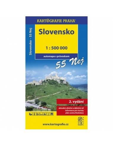 Szlovákia autótérkép 55 látnivalóval