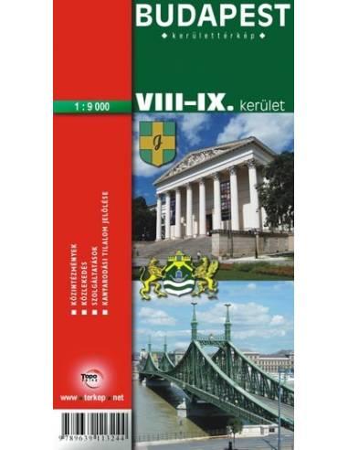 Budapest Viii Ix Kerulet Terkep