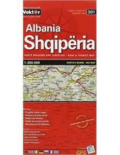 Shqiperia - Albánia térkép...