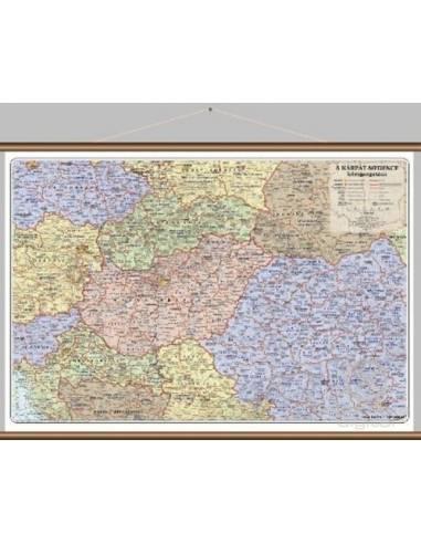 Kárpát-medence közigazgatási térkép...
