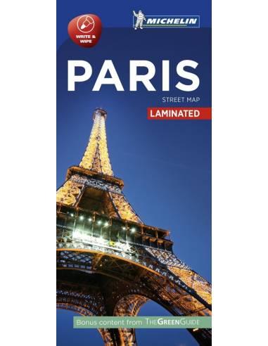 Párizs központ laminált térkép -...