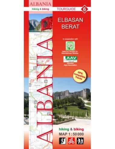 Albánia 6: Elbasan, Berat turistatérkép
