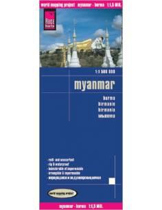 RKH Myanmar - Burma térkép