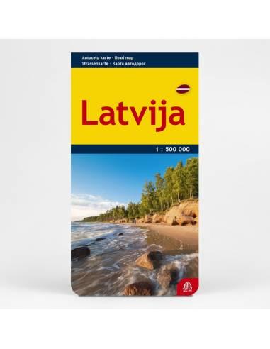 Latvija - Lettország térkép