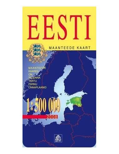 Eesti - Észtország térkép