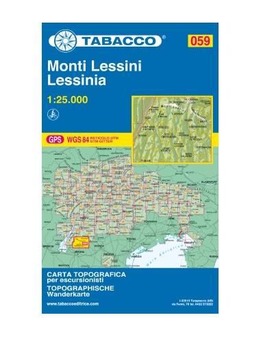 TO 059 Monti Lessini - Lessinia térkép