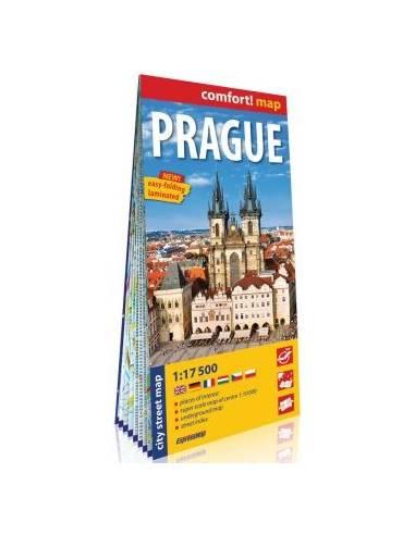 Prague comfort! map - Prága laminált...