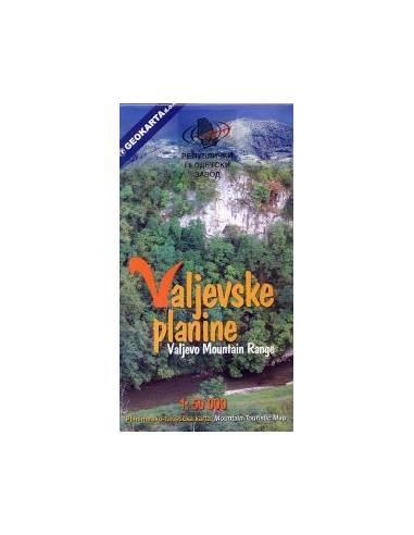 Valjevske planine turistatérkép