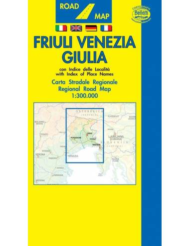 Friuli Venezia Giulia régiótérkép