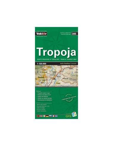Tropoja autós turistatérkép (385)...