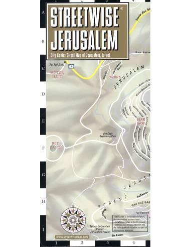 Streetwise Jerusalem Map - Jeruzsálem...