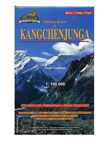 Kangchenjunga trekking térkép