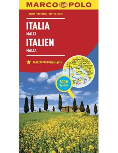 Olaszország, Málta ZOOM térkép -...