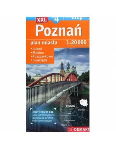 Poznań +4 város XXL térképe -Luboń,...
