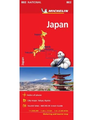 MN 802 Japán térkép