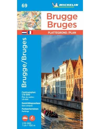 MN 69 Brugge - Bruges várostérkép