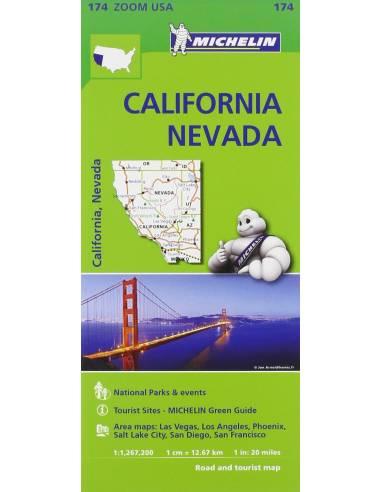 MN 174 California - Nevada térkép