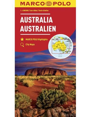 Ausztrália térkép - Marco Polo