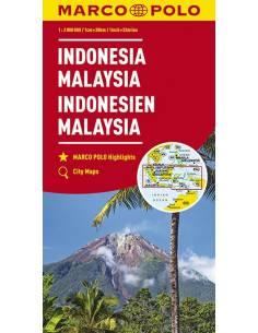Indonézia, Malajzia térkép...