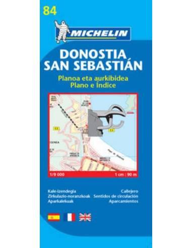 MN 84Donostia, San Sebastian térkép