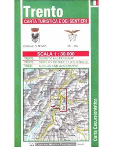 Trento turistatérkép
