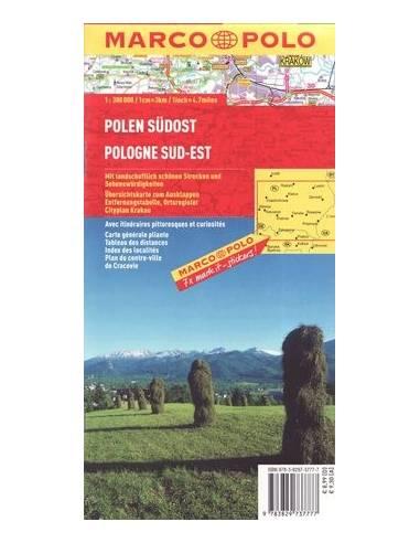 Lengyelország Dél-Kelet térkép -...