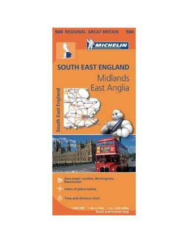 MN 504 Anglia Dél-Kelet térkép - Soth...