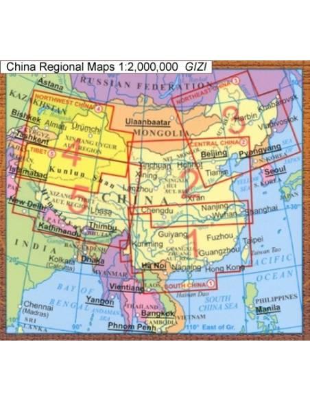 Tibet Domborzati Terkep Kina 5