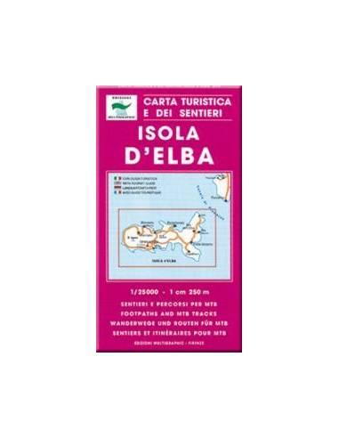 Isola d`Elba turistatérkép