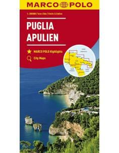 Puglia - Apulia térkép -...