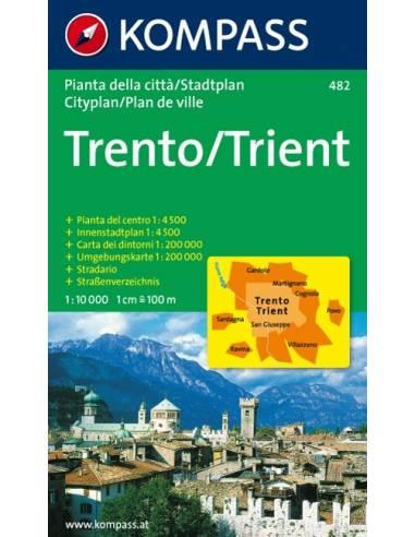 KK 482 TRENTO / TRIENT VÁROSTÉRKÉP