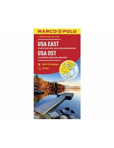 USA East - Usa kelet térkép - MARCO POLO