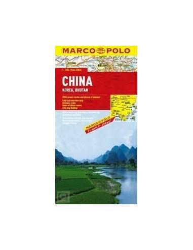 Kína, Mongólia, Bhután, Korea  térkép...