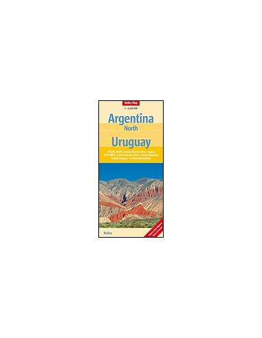 Argentina-észak, Uruguay térkép -...