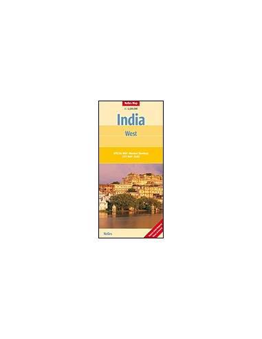 India Nyugat térkép - India : West