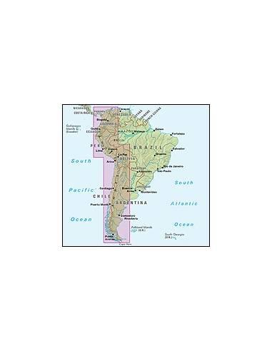 Del Amerika Andok Terkep South America The Andes
